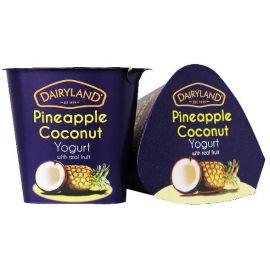 Dairyland Pineapple Coconut Yoghurt 12x150g - Bulkbox Wholesale