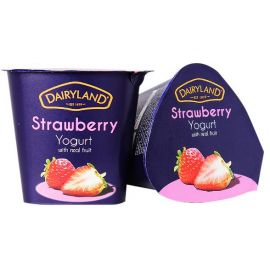 Dairyland Strawberry Yoghurt 12x150g - Bulkbox Wholesale
