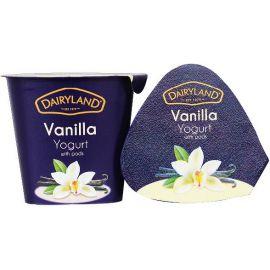 Dairyland  Vanilla Yoghurt with Pods  12x150g - Bulkbox Wholesale