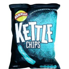 Kettle Cooked Potato Crisps Sour Cream & Chive - Bulkbox Wholesale