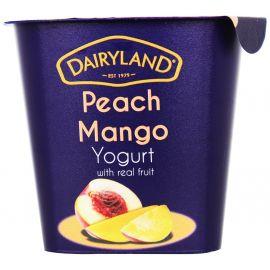 Dairyland Peach Mango Yoghurt 12x150g - Bulkbox Wholesale