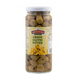 Santa Maria Green Pitted Olives 12x345g - Bulkbox Wholesale
