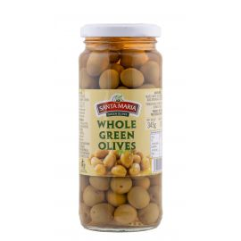 Santa Maria Green Whole Olives 12x345g - Bulkbox Wholesale