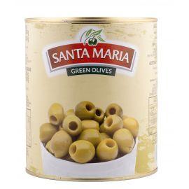 Santa Maria Green Pitted Olives 6x3Kg - Bulkbox Wholesale