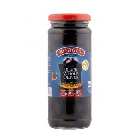 Borges Black Pitted Olives 12x320g - Bulkbox Wholesale