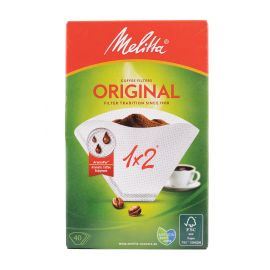 Melitta Filter paper 1x2/40 Filters White - Bulkbox Wholesale