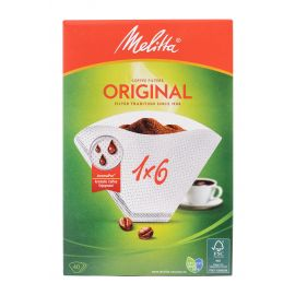 Melitta Filter paper 1x6/40 Filters White - Bulkbox Wholesale