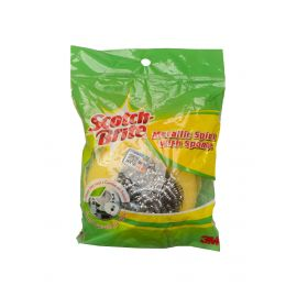 Scotch Brite Metallic Spiral with Sponge 24 Packs - Bulkbox Wholesale