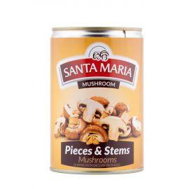 Santa Maria Mushroom - Stems & Pcs 24x360g - Bulkbox Wholesale