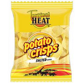 Tropical Heat Potato Crisps - Salted 24 x 100g - Bulkbox Wholesale