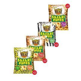 Tropical Heat Safari Puffs - Assorted 48 x 20g - Bulkbox Wholesale