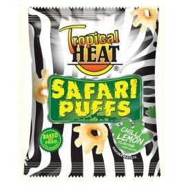 Tropical Heat Safari Puffs - Chilli Lemon 10 x 100g - Bulkbox Wholesale