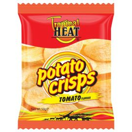 Tropical Heat Potato Crisps - Tomato - Bulkbox Wholesale