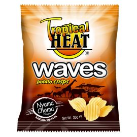 Tropical Heat Waves Crisps - Nyama Choma - Bulkbox Wholesale