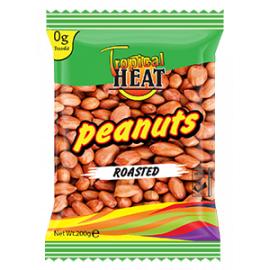 Tropical Heat Peanuts - Roasted (with Skin) 6 x 200g - Bulkbox Wholesale