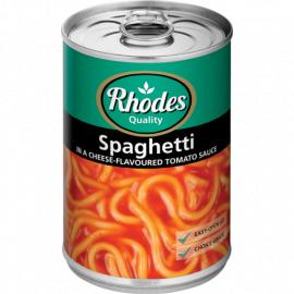 Rhodes Spaghetti in Tomato Sauce 12x410g - Bulkbox Wholesale