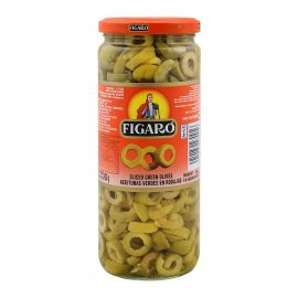 Figaro Green Sliced Olives 12x450g - Bulkbox Wholesale
