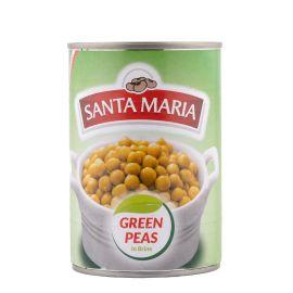 Santa Maria Green Peas in Brine 24x400g - Bulkbox Wholesale