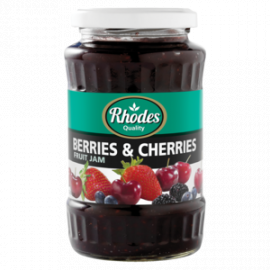 Rhodes Berries & Cherries Jam  - Glass 12x460g - Bulkbox Wholesale