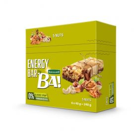 Bakalland - Ba! Energy Bar 5 Nuts   100x40g - Bulkbox Wholesale