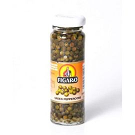 Figaro Green Peppercorns In Brine 12x100g - Bulkbox Wholesale