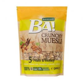 Bakalland Crunchy Muesli 5 Nuts & Honey 12x300g - Bulkbox Wholesale