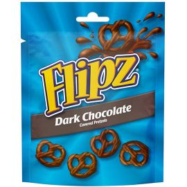 Flipz Dark Chocolate Pretzels 6x100g - Bulkbox Wholesale