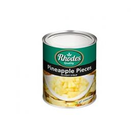 Rhodes Pineapple Pieces in Syrup 6x825g - Bulkbox Wholesale