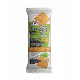 Vitalia Oat Salty Crackers Garlic Basil 6x150g - Bulkbox Wholesale