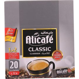 Alicafe Classic 2 In 1 Coffee 20x12g, 5Pack - Bulkbox Wholesale
