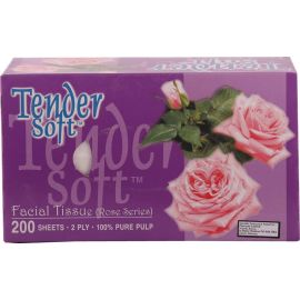 Tender Soft Facial Tissue Box Rose 10x4x200's - Bulkbox Wholesale