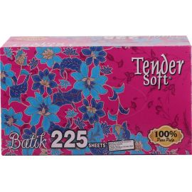 Tender Soft Facial Tissue Box Batik 10x4x225's - Bulkbox Wholesale