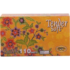 Tender Soft Facial Tissue Box Batik 12x4x110's - Bulkbox Wholesale