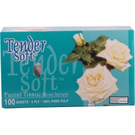 Tender Soft Facial Tissue Box Rose 12x4x100's - Bulkbox Wholesale