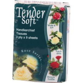 Tender Soft Mini Handkerchiefs 30x6x9's - Bulkbox Wholesale