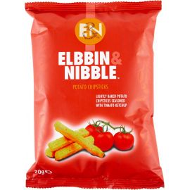 Elbbin & Nibble Tomato Ketchup Chipsticks - Bulkbox Wholesale