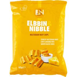 Elbbin & Nibble Multigrain Nacho Cheese Chips - Bulkbox Wholesale