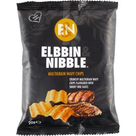 Elbbin & Nibble Multigrain Barbeque Chips - Bulkbox Wholesale