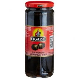 Figaro Plain Black Olives 12x340g - Bulkbox Wholesale