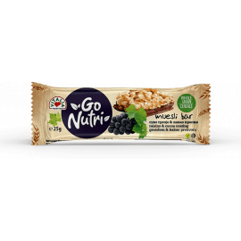 Vitalia Go Nutri Cereal Bar with Raisins 18x25g - Bulkbox Wholesale