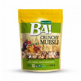 Bakalland Crunchy Muesli 5 Dried Fruits 12x300g - Bulkbox Wholesale