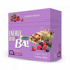 Bakalland Energy Bar 5 Forest Fruits 25x40g - Bulkbox Wholesale