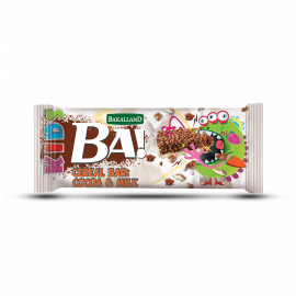 Bakalland Energy Bar Cocoa & Milk 30x25g - Bulkbox Wholesale
