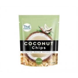 Thai Coco Coconut Chips Original 6x40g - Bulkbox Wholesale