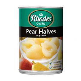 Rhodes Pear Halves in Syrup 12x410g - Bulkbox Wholesale