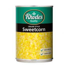 Rhodes Cream Style Sweetcorn 12x410g - Bulkbox Wholesale