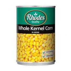 Rhodes Whole Kernel Corn 12x410g - Bulkbox Wholesale