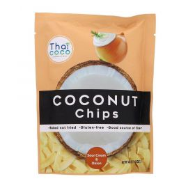 Thai Coco Coconut Chips Sour Cream and Onion 6x40g - Bulkbox Wholesale