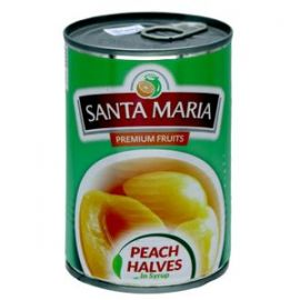 Santa Maria Peach Halves in Syrup 12x820gm - Bulkbox Wholesale