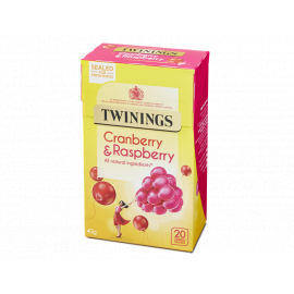 Twinings Infusion Cranberry & Raspberry 4x20s - Bulkbox Wholesale